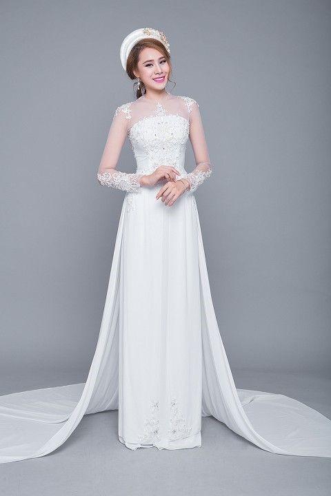 Top 20 áo dài cưới được lựa chọn nhiều 01