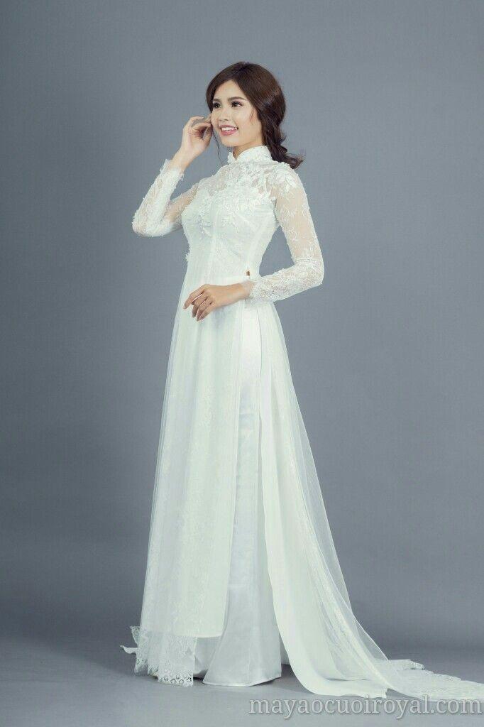Top 20 áo dài cưới được lựa chọn nhiều 03