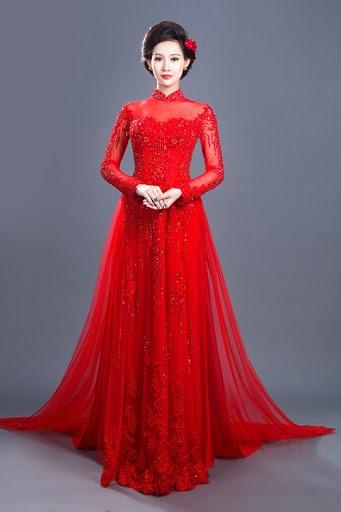 Top 20 áo dài cưới được lựa chọn nhiều 04