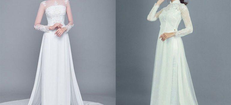 Top 20+ áo dài cưới